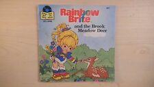 "Vista Record & Golden Book RAINBOW BRITE & THE BROOK MEADOW DEER 7"" 33RPM 1984"