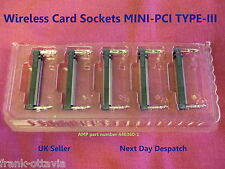 Wireless Card Sockets MINI-PCI TYPE-III  TE Connectivity / AMP Lot of 5