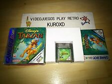 NINTENDO GBC GAME BOY COLOR DISNEY'S TARZAN COMPLETO PAL ESPAÑA