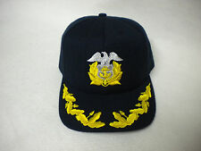 OFFICER BASEBALL CAP HAT BLACK & GOLD SZ MEDIUM/LARGE MADE IN USA ADJ EXCELLENT