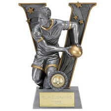 A1492B RESIN RUGBY TROPHY SIZE 18.5CM 7.25 INCH FREE ENGRAVING