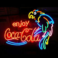"17""x14"" Enjoy Coca Cola Parrot Neon Light Sign Beer Bar Pub Club Store Display"