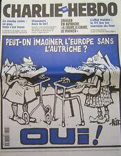 CHARLIE HEBDO No 399 FEVRIER 2000 RISS L EUROPE SANS L AUTRICHE ? OUI !