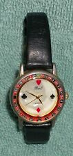 PEARL Watch co. Roulette Wheel Watch, playing Cards Spade Heart Diamond Club