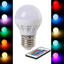 E27 3W RGB LED Bulb Control 16 Color LED Light + IR Wireless Remote 150LM Lamps