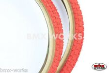"Cheng Shin Comp 3 Red with Skinwall Sides BMX Tyres 20"" x 1.75"" Sold In Pairs"