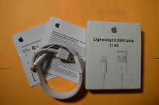 1M OEM Original Apple Lightning USB Charger Cable for iPhone 6s Plus iPhone 5, 4