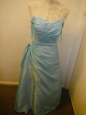 Ladies Blue Prom/Party/Bridesmaid/Formal Dress With Scarf Size 20