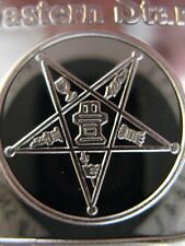 1 OZ. .999 PURE SILVER ENGRAVABLE MASONIC BAR ORDER OF THE EASTERN STAR + GOLD
