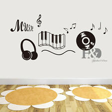 Music Musical Note Removable Wall Stickers Art Vinyl Decal Mural Room Home Decor