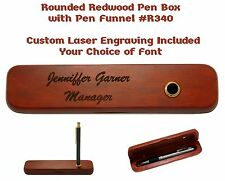 Custom Engraved Rosewood Pen Box with Pen Funnel #R340