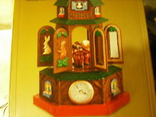 New RARE Mr Christmas Bavarian Cuckoo Clock Action/Lights 30 Tune Music Box