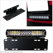 Professional Car Van Front License Plate Installation LED Lights Bracket Support