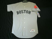 Authentic Majestic, SIZE 56 3XL, BOSTON RED SOX, ROAD GRAY IN GAME JERSEY