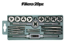 KIT FILIERA 20PZ FILIERE MASCHI FEMMINA PER FILETTATURE FERRO IN CUSTODIA FILETT