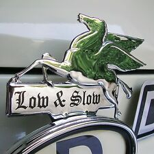 CHROME Pegasus LOW & SLOW Licence Topper Mobil Oil Hot Rod VW Ford AAC164