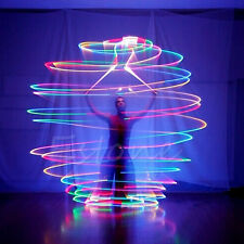 Pro LED Multi-Colored Glow POI Thrown Balls Light Up For Belly Dance Hand Props