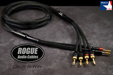 10ft. Pair ROGUE Audio Cables CLASSIC Bi-Wire Speaker Cables 2x4 HANDMADE USA