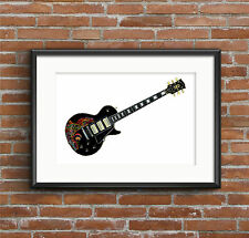 Keith Richards' Gibson Les Paul Custom Black Beauty guitar POSTER PRINT A1 size