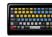 Serato Scratch Live Keyboard Stickers | All Keyboards | QWERTY | GLARE-FREE!