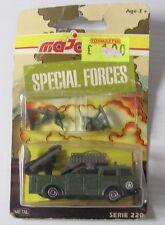 Vintage majorette série 200 forces spéciales tank rocker lanceur & chiffres