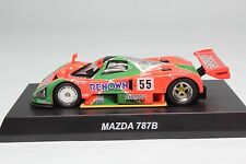 6J088 Kyosho 1/64 Mazda 787B #55 Le Mans 1991 Winner Rotar Engine With Tracking