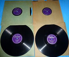 "Paul Weston 4X10"" 78 rpm DOUBLE DATIN', BOP WENT THE STRINGS, DARDANELLA"