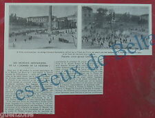 Document photo Rome anciens combattants contre fascistes 1924, antique print