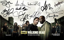 "THE WALKING DEAD - GLOSSY 12"" x 8"" MINI POSTER PHOTO PRINT - CAST SIGNED"