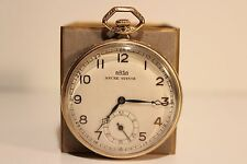 """ART DECO RARE BEAUTIFUL SWISS MEN'S GOLD PLATED POCKET WATCH""""ARSA""""ANCRE SUISSE"""