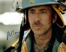 Nicolas CAGE SIGNED Autograph 10x8 Photo AFTAL COA 911 WORLD Trade CENTRE Film