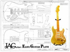 Luthiers Project Plan / Drawing for Fender standard Stratocaster SUPERPLAN