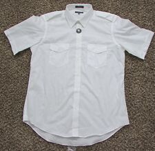New Men's American Airlines Pilot Shirt Short Sleeve Size 17 Regular Slim Fit