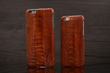 CAPIS i7 4.7 Brown Real Genuine Ostrich Leg Skin Leather Case Cover for iPhone 7