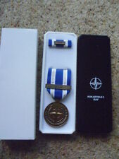 ORIGINAL NATO  MEDAL - ISAF  - CURRENT ISSUE  AFGHANISTAN  IN BOX OF ISSUE