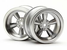 HPI 3820 VINTAGE 5 SPOKE WHEEL 31MM (WIDE) MATTE CHROME (6MM OFFSET) NEW!