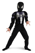 Spider-Man Black Suited Muscle Child Costume Size 7-8 NWT Brand New! 6947