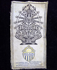 URUGUAY 1938 ANTIQUE III EUCHARISTIC CONGRESS OL. OF LUJAN CLOTH SILK EMBROIDERY