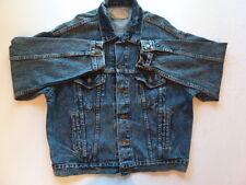VTG LEVIS Blue Acid Wash Relaxed Baggy Jean Denim Trucker Grunge Jacket LARGE