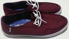 MEN'S VANS Off The Wall Surf Rata Vulc maroon with blue Interior, Size 13