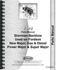 Ford Sherman 54E Backhoe Attachment Parts Manual