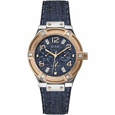 Guess Donna Orologio Watch Woman Jet Setter W0289L1 Pelle Jeans Multifunzione