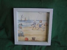 Hand Made Picture  - Vintage Laura Ashley Border Blue Sailing Ships