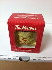 TIM HORTON'S MINI CERAMIC COFFEE BAG ORNAMENT *NEW*
