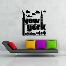 Wall Stickers Vinyl Decal New York Big Apple USA Cool Decor For You  (z1616)