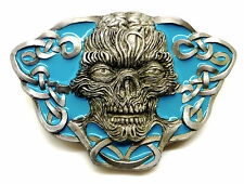 Skull Belt Buckle Ornate Zombie Exposed Brain Authentic C & J Buckles Product
