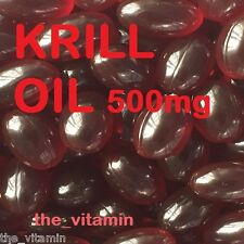 "Superba RED KRILL OIL 500mg   120 Capsules      ""The Vitamin"" FREE P&P       (L)"
