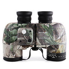 10X50 Waterproof Navy Binoculars Telescope with Rangefinder and Compass