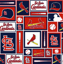 St Louis Cardinals MLB Baseball Sports Team Cotton Fabric Print by the Yard