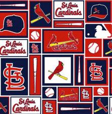 St Louis Cardinals MLB Baseball Sports Team Cotton Fabric Print by the Yard